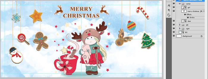 فایل فتوشاپ ماگ دخترانه کریسمس مبارک